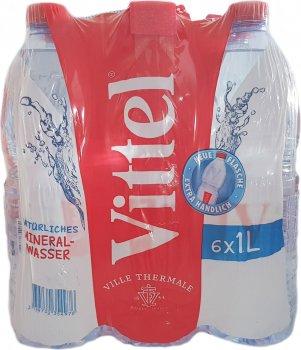 Упаковка минеральной негазированной воды Vittel 1 л х 6 бутылок (3179732358622_3179732354976)