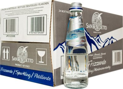 Упаковка минеральной воды San Benedetto газированной 0.25 л х 24 бутылки (8001620004265)