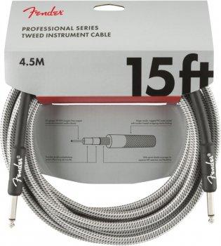 Інструментальний кабель Fender Cable Professional Series 15 ft 4.5 м White (228450)