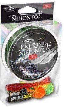 Шнур Mikado Nihonto Fine Braid 150 м 0.12 мм 8.80 кг Green (Z19G-012)