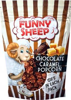 Упаковка попкорну Funny Sheep у шоколадній карамелі 90 г х 4 шт. (44820196720018)