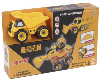 Игровой набор Kaile Toys Строительная техника 9 в 1 (KL713-1)