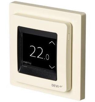 Терморегулятор DEVI Devireg Touch (сл.кость) программируемый для теплого пола