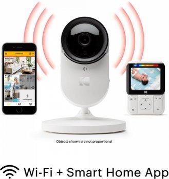 Цифровая видеоняня Kodak C220 HD Wi-fi с родительским блоком (C220000C220) (4895222700083)