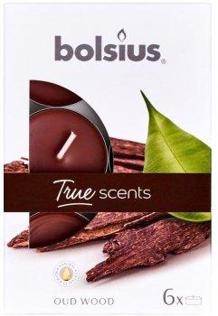 Свічки ароматичні Bolsius 4 години коробка 6 шт. Агарове дерево (941570)