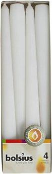 Конусная свеча Bolsius 245/24 коробка 4 шт Белая (350902)
