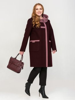 Пальто Mangust 2182-Vino Червоне