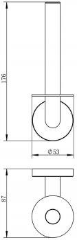 Держатель для туалетной бумаги IMPRESE Hranice 142100