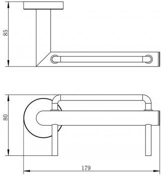 Держатель для туалетной бумаги IMPRESE Hranice 141100