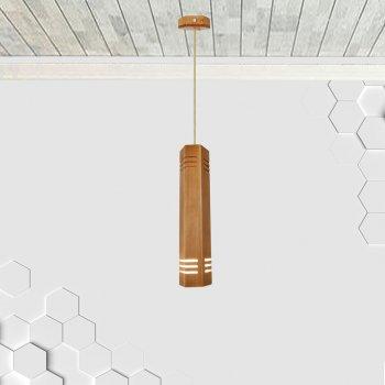 Світильник підвісний MONA E27 на 1-лампу, світле дерево