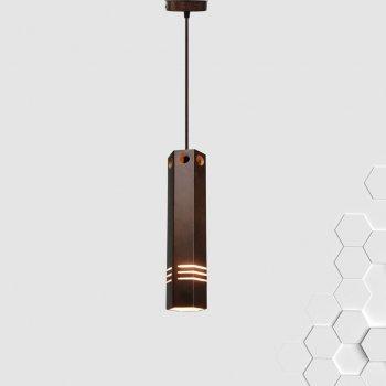 Світильник підвісний MONA E27 на 1-лампу, темне дерево