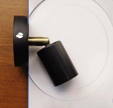 Спот поворотный на 1-лампу SLEEVE E27 черный