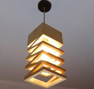 Світильник підвісний SPRING E27 на 1-лампу, світле дерево