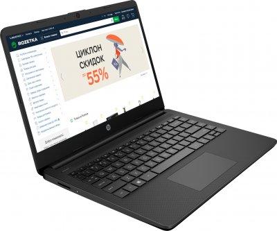 Ноутбук HP 14s-fq0022ur (22M90EA) Black