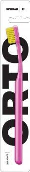 Зубная щетка Spokar Ортодонтическая с U-образным вырезом (8593534342002_Розово-желтая)