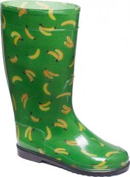 Резиновые сапоги OLDCOM Бананы на зеленом фоне
