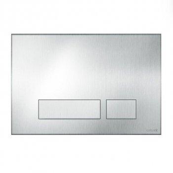 Кнопка слива TORRO антивандальная матовая сталь Cersanit (000019669)