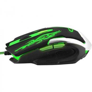 Миша Esperanza MX405 Cyborg (EGM405) Black/Green USB