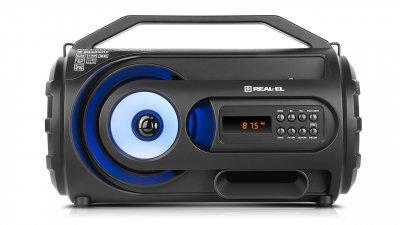 Портативный музыкальный центр бумбокс REAL-EL X-710 Black
