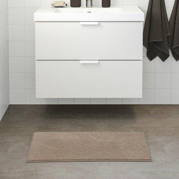 Килимок у ванну кімнату IKEA TOFTBO 50х80 см Темно-бежевий 104.675.83