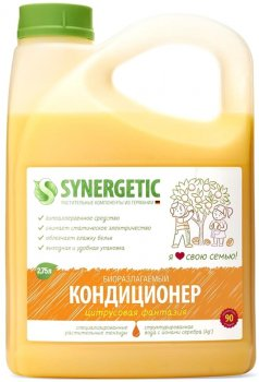 Кондиционер-ополаскиватель для белья Synergetic Цитрусовая фантазия 2.75 л (4623722339812)