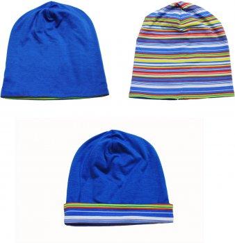 Демисезонная шапка Danaya Двухсторонняя 179F/17 43 см Синий/Полоска с синим (2000013376688)