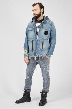 Чоловіча блакитна джинсова куртка D-SERLE Diesel A01959 009SA