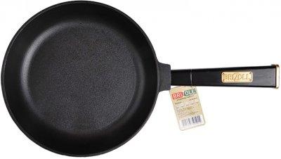 Сковорода Brizoll Optima-black чугунная с ручкой 220х40 мм (559-201)