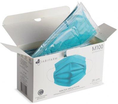 Медицинские маски Abifarm M100 с индикатором влажности, 4-слойные, стерильные, 25 шт (1М1001) (4820238360044)