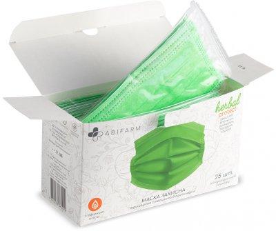Защитные маски Abifarm Herbal Protect ароматические, с эфирными маслами, 3-слойные, стерильные, 25 шт (1HLP01) (4820238360099)