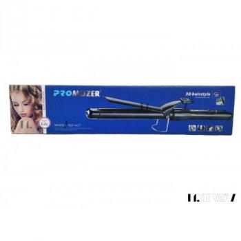 Плойка для волосся з затиском професійна 25мм Обертання шнура на 360° Pro Mozer MZ-6627 black (OLS014)