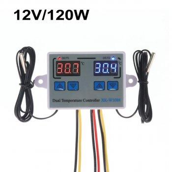Цифровий Контролер Температури Xk-W1088 Подвійний Dc12V 120 Вт
