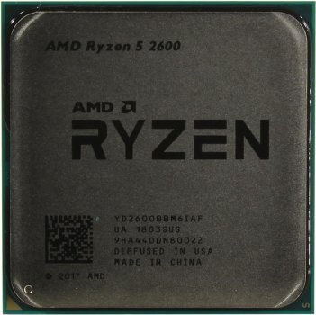 Процесор AMD Ryzen 5 2600 (3.4GHz 16MB 65W AM4) Tray (YD2600BBM6IAF)