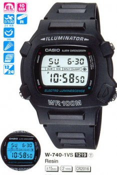 Годинник CASIO W-740-1VHDF