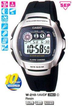 Годинник CASIO W-210-1AVDF