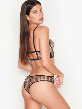 Комплект білизни Victoria's Secret 23290275 Бежевий/Чорний