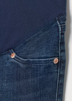 Джинси для вагітних H&M 0300024_мед. кнопки Темно-сині