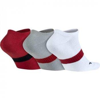 Баскетбольные носки (3 пары) Jordan Dri-Fit No Show 3 Pack Socks(SX5243-687) Белый
