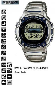 Годинник CASIO W-S210HD-1AVEF