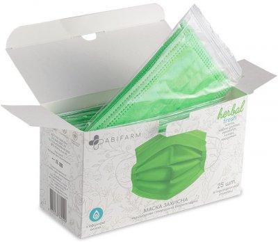 Защитные маски Abifarm Herbal Fresh ароматические, с эфирными маслами, 3-слойные, стерильные, 25 шт (1HLF01) (4820238360099)