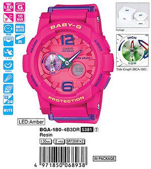 Годинник CASIO BGA-180-4B3ER