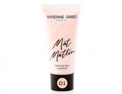 Матирующий тональный крем Vivienne Sabo Mat Mattin 01