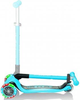 Самокат Globber серии Primo Foldable Lights голубой, колеса с подсветкой до 50 кг 3+ (432-101-2)
