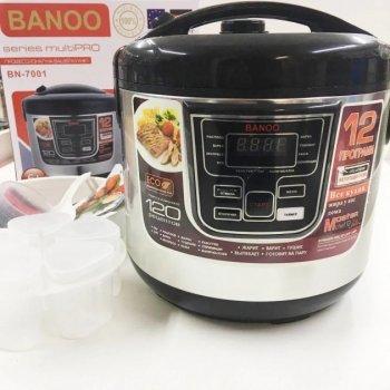Мультиварка пароварка йогуртница хлебопечка Banoo 6 литров медленноварка 1500 Вт. Лучшая домашняя мощная помощница на кухне BN7001S