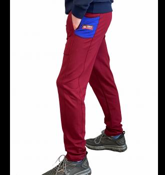 Спортивні штани чоловічі 8506 SAMO бордо.
