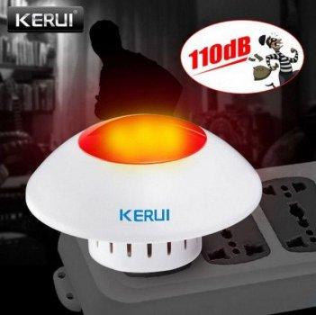 Бездротова сирена зі стробоскопом світлошумову 433 MHz Kerui J009