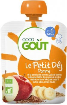 Дитяче фруктове пюре Good Gout Яблуко 70 г (3760269310209)