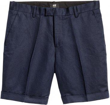 Шорты H&M 4833315RP21 Темно-синие