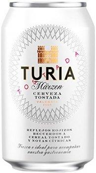 Упаковка пива Turia полутемное фильтрованное 5.4% 0.33 л x 24 шт (8413194096230)