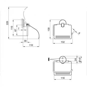 Тримач для туалетного паперу Lidz (CRM)-115.03.01